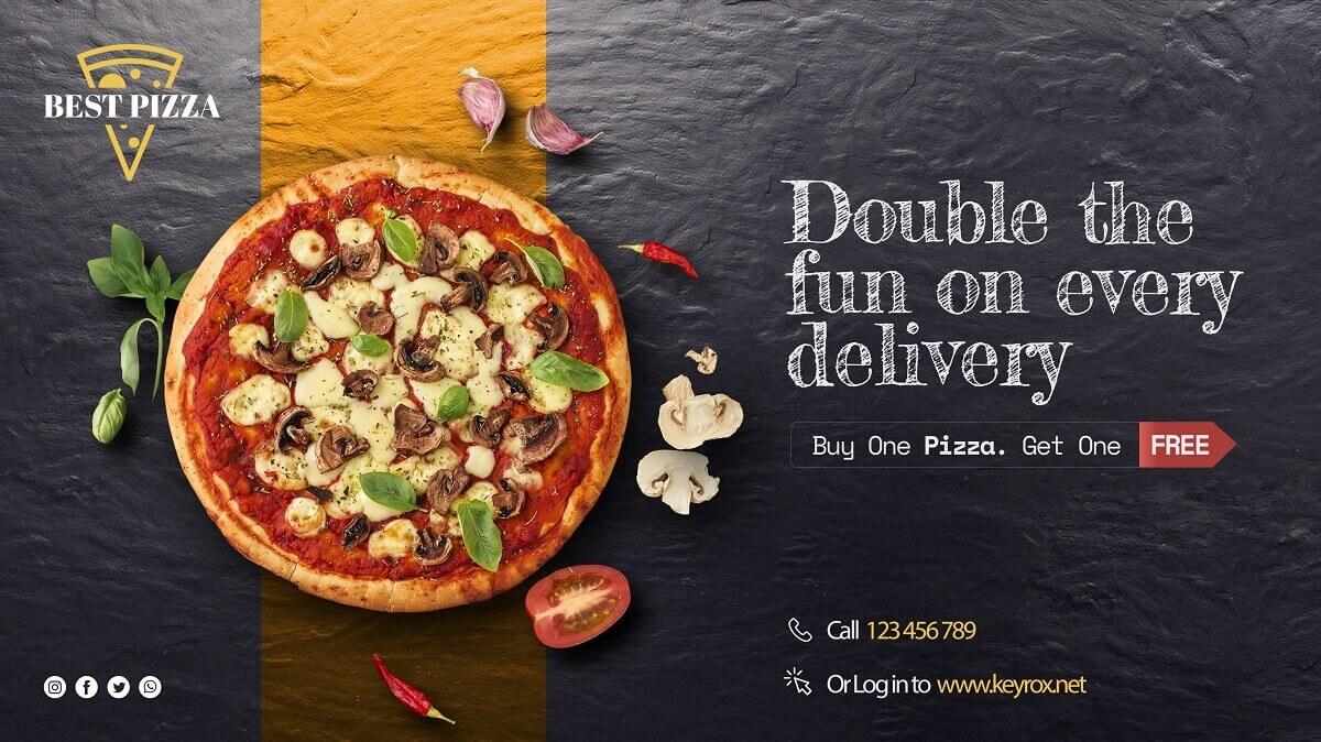 Pizza delivery website sample