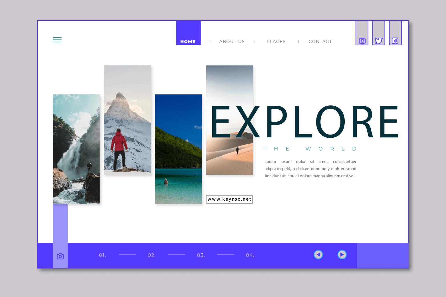 travel agency sample website