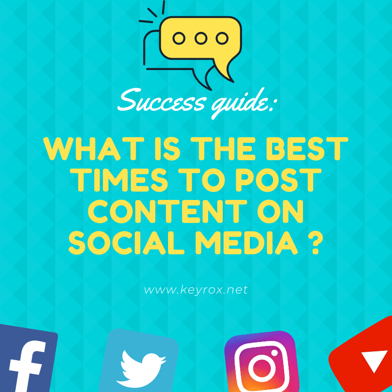 Success guide what is the best times to post content on social media in 2020